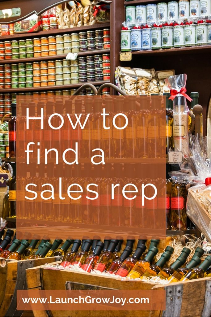 How to find a sales rep