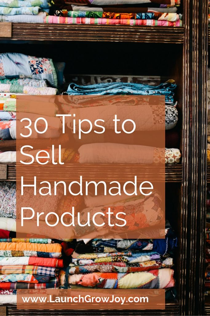 Sell handmade 30 tips to sell your handmade products for Ideas for products to make and sell