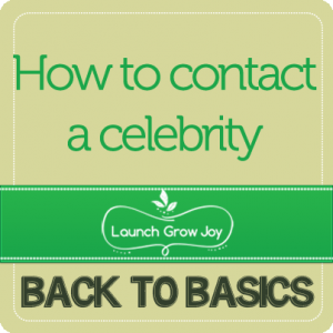 contact a celebrity