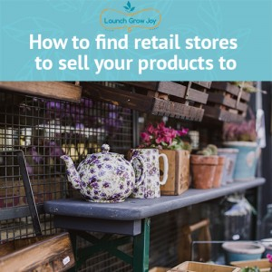 how to find retail stores to sell your products to