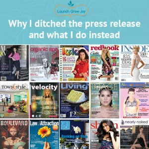 why i ditched the press release